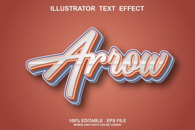 Arrow text effect editable