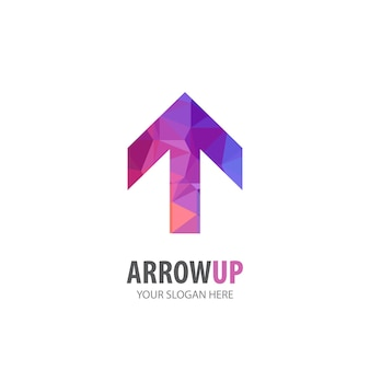Arrow up logo for business company. simple arrow up logotype idea design. corporate identity concept. creative arrow up icon from accessories collection.