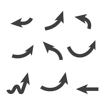 화살표 벡터 일러스트 아이콘 로고 템플릿 디자인