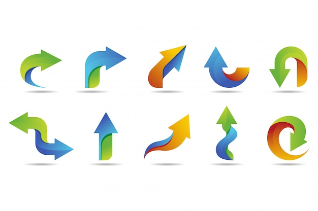 Arrow vector logo collection with colorful style
