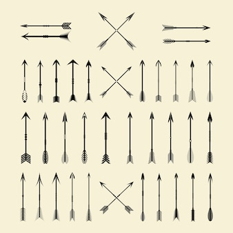 Arrow vintage decorative set