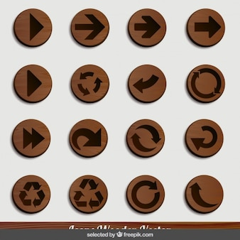 Arrow wooden icons
