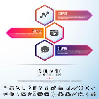 Шаблон дизайна инфографики arrow