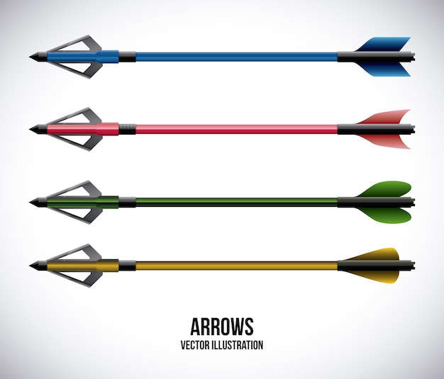 Arrows design over gray background vector illustration