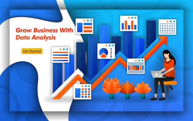 データ分析による成長事業の矢印デザイン