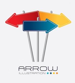 Arrows design vector illustration