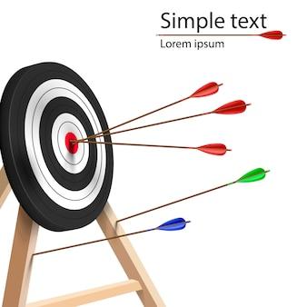 Arrows hitting target.