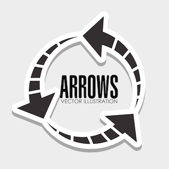 Arrows icons graphic