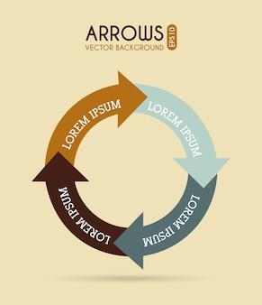 Arrows infographics over cream background