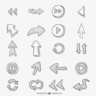 Arrows scribbles pack