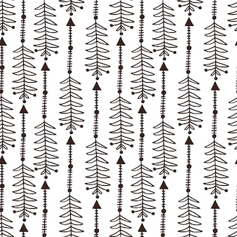 Arrows seamless pattern. ethnic background