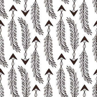 Arrows seamless pattern. rustic design