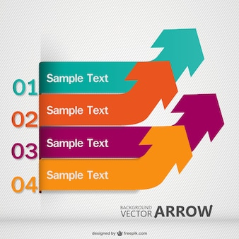 Arrows template in different colors