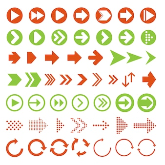 Arrows vector collection with elegant style