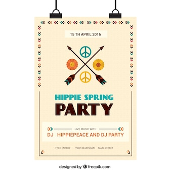 Frecce con il simbolo hippy poster primavera