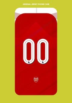 Arsenal jersey phone case