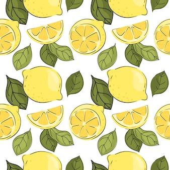 アート背景植物の明るい柑橘系の色の装飾デザイン生地生地パターン食品f