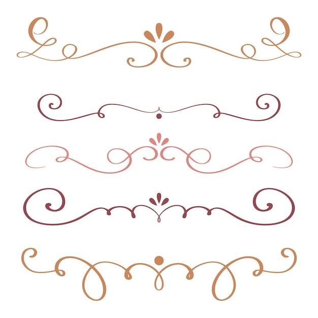 アート書道は、デザインベクトルイラストのヴィンテージ装飾渦巻きの繁栄