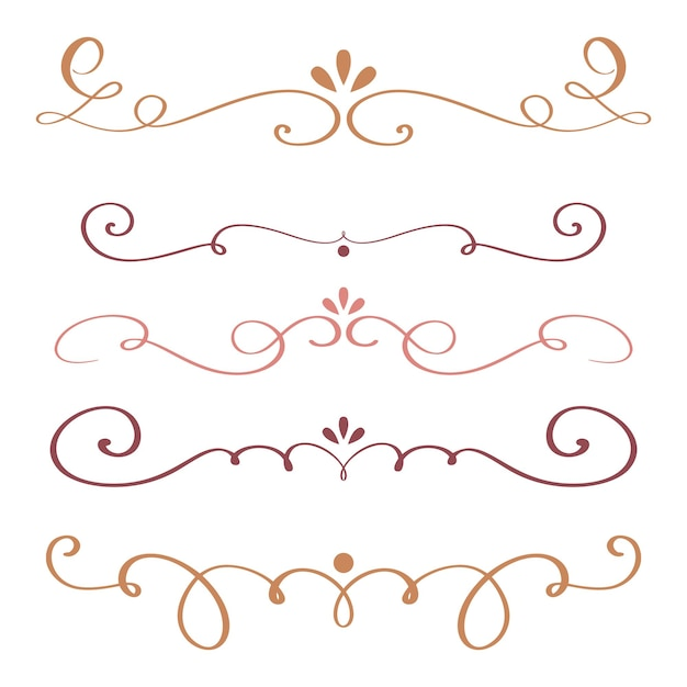 Art calligraphy flourish of vintage decorative whorls for design vector illustration