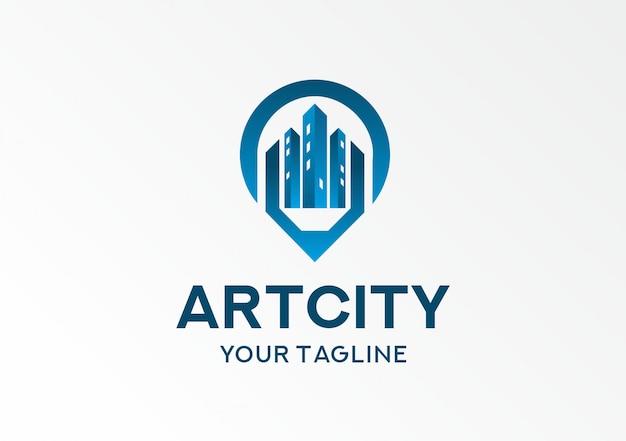 Art city blue logotype template