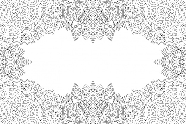 Art for coloring book page with border