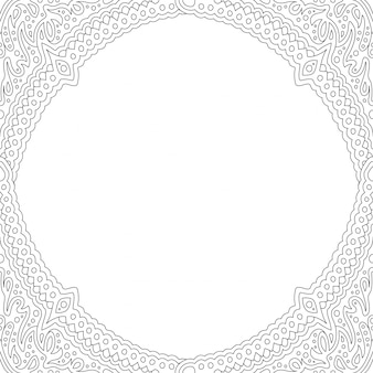 Art for coloring book with beautiful frame