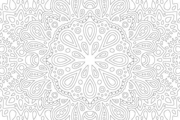 Art for coloring book with eastern pattern