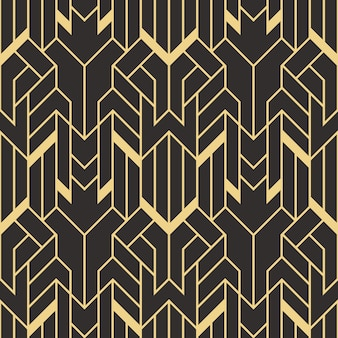 Art deco abstract seamless pattern