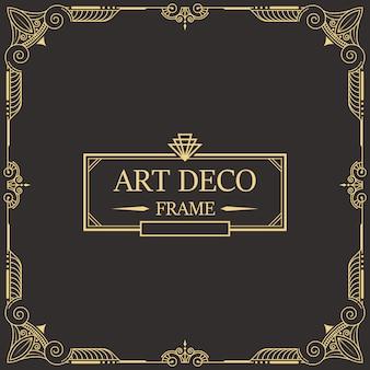 Art deco border and frame 26