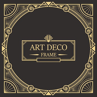 Art deco border and frame template.
