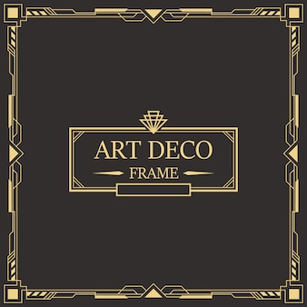 Art deco border and frame.