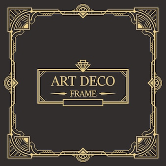 Art deco border and frame