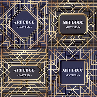 Art deco border. glamour pattern retro party frames , decorative borders set