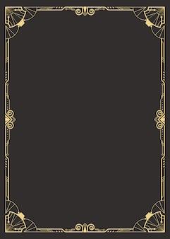 Art deco border template
