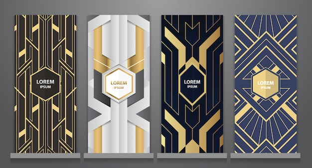 Art deco design for rollup set
