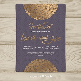 Art deco design wedding template