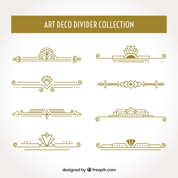 Art Deco Border Vectors, Photos and PSD files
