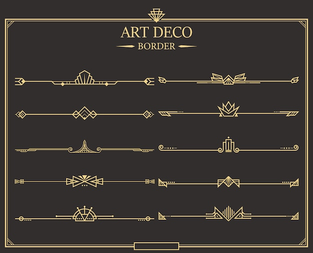 Art deco divider collection