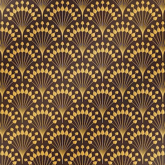 Art deco floral pattern