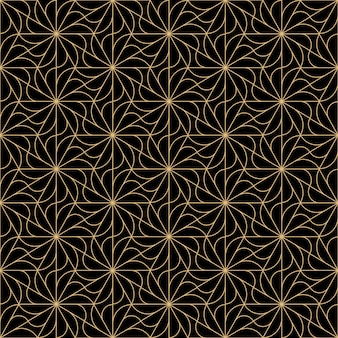 Art deco flowers seamless pattern design