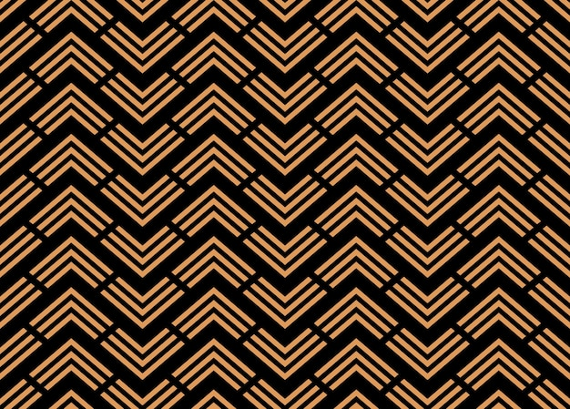 Art deco and folk motif chevrons, rhombuses ornament
