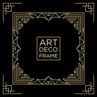 Art deco frame design background template