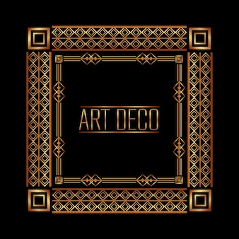 Art deco frame geometric abstract decorative
