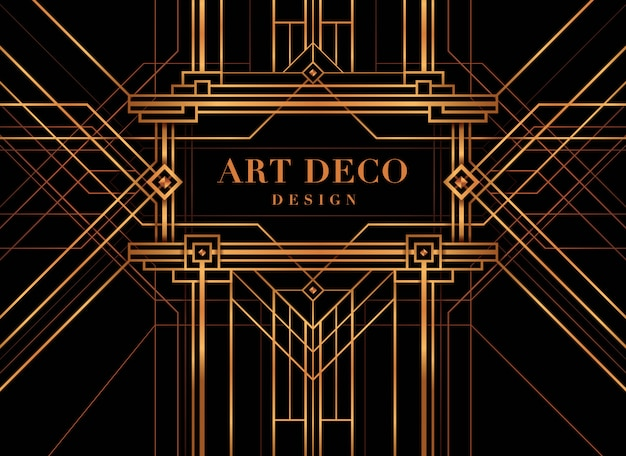 Art deco frame, the great gatsby deco style.