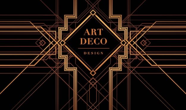 Art deco frame vector, the great gatsby deco style.