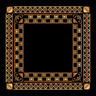 Art deco frame vintage ornament abstract geometric