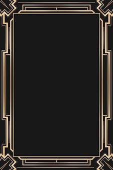 Art deco  frame with diamond pattern on dark background