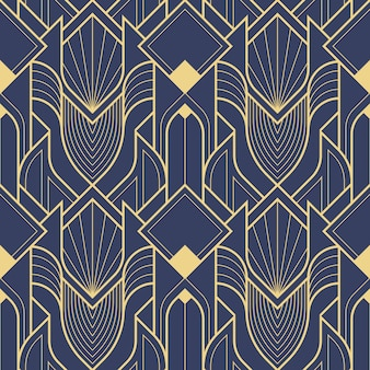 Art deco geometric abstract pattern