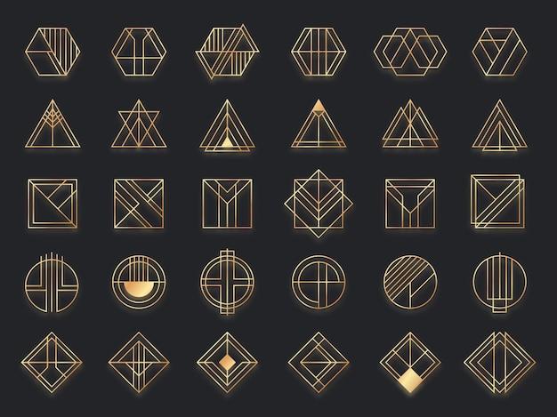 アールデコの幾何学的形状。