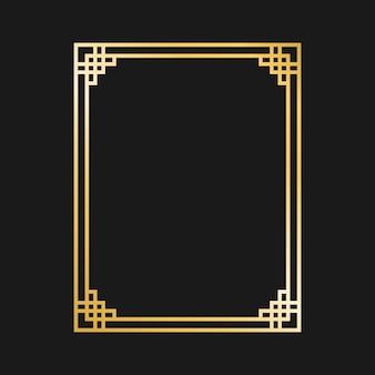 Золотые бордюры и рамки в стиле ар-деко